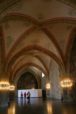 Decke im Krönungssaal im Aachener Rathaus