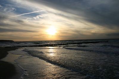 Sonnenuntergang am Freitag