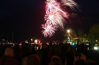 Feuerwerk über der Ostsee