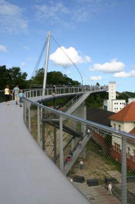 Die Hängebrücke in Sassnitz