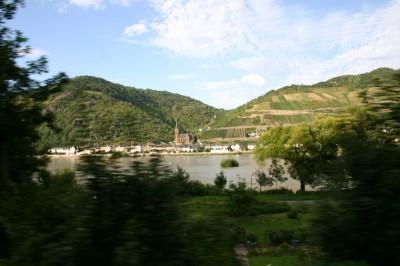 Die Strecke am Rhein entlang von Koblenz nach Mainz