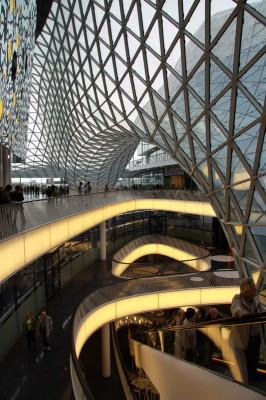 Frankfurter Innenstadt - Faszinierende Dachkonstruktion in der neuen myZeil