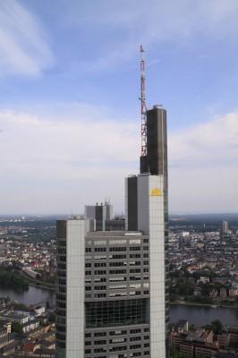 Blick von der Aussichtsplattform auf die Commerzbank