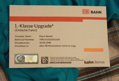Mein 1. Klasse Upgrade