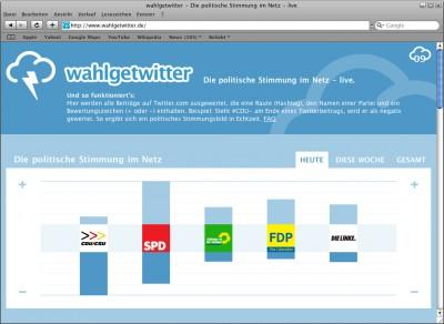 Screenshot von wahlgewitter.de