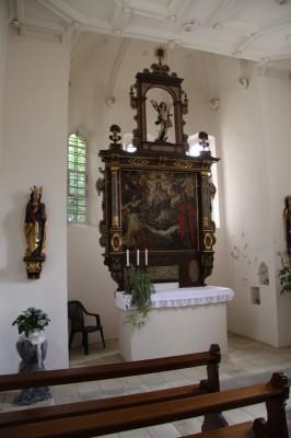 Altar in der Schloßkapelle der Tannenburg