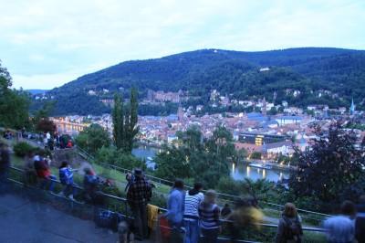 Ausblick auf das Heidelberger Schloß und Altstadt