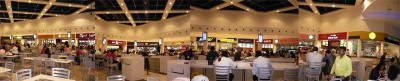 360 Grad Blick in der Food Court