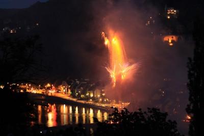 Feuerwerk über dem Neckar