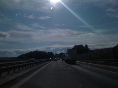 Auf der A6 irgendwo bei Sinsheim