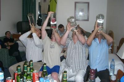 Die 3 Liter Wodka-Flaschen....
