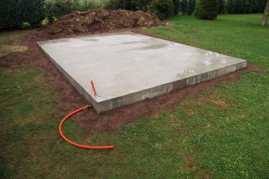Die fertige Bodenplatte