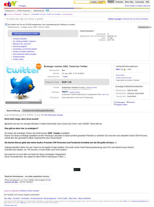 Das Angebot bei Ebay - Anklicken zum Zoomen