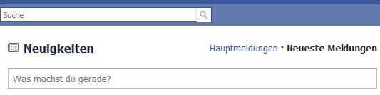 Normal steht Facebook bei mir immer auf Neueste Meldungen