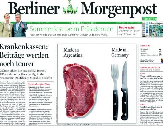 Titelseite der Berliner Morgenpost vom 3. Juli 2010