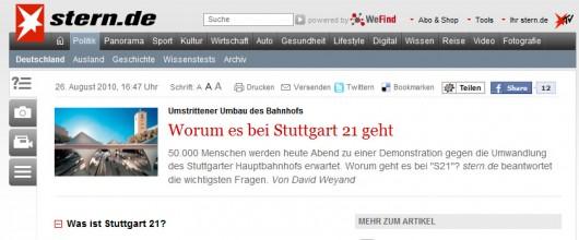 Heute Abend 50.000 in Stuttgart erwartet...