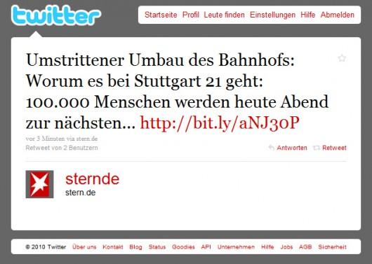Heute Abend 100.000 in Stuttgart erwartet...