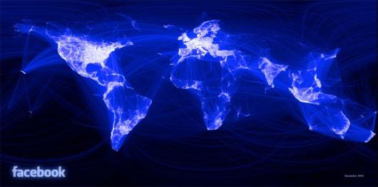 Visualisierung der Facebook-Freundschaften ©Paul Butler/facebook.com