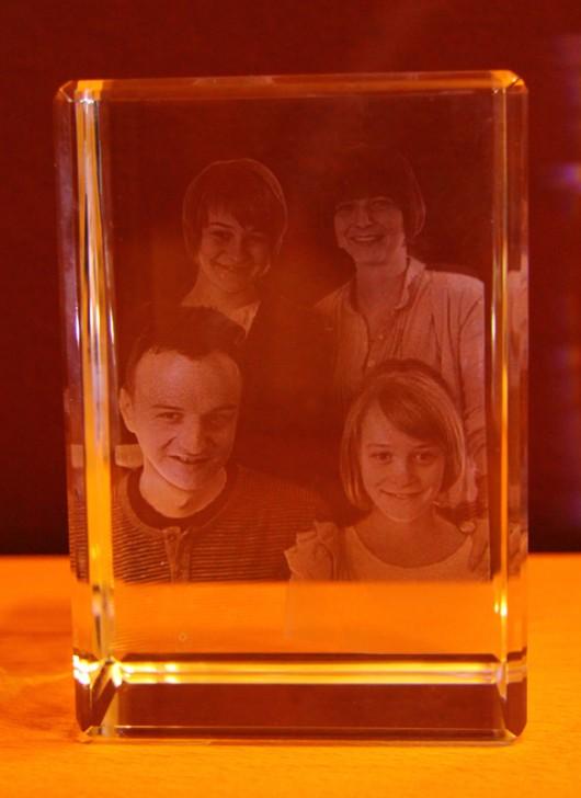 3D Laser Foto im Mega Viamant Glas