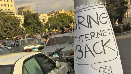"""Bring Back Internet"" (31.01.2011 © by gutjahr)"