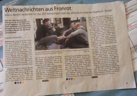 Haller Tagblatt am 20.04.2011