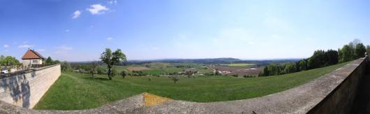 Panorama in Hohenberg Richtung Neuler