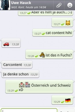 WhatApps Unterhaltung mit Uwe