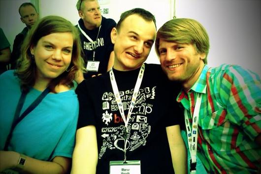 Teil der #bcka-Gang: @JeanneRaffut, @ich & @Schmutte