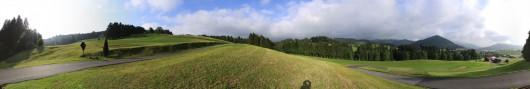 Panorama: In den Allgäuer Alpen oberhalb von Kalzofen