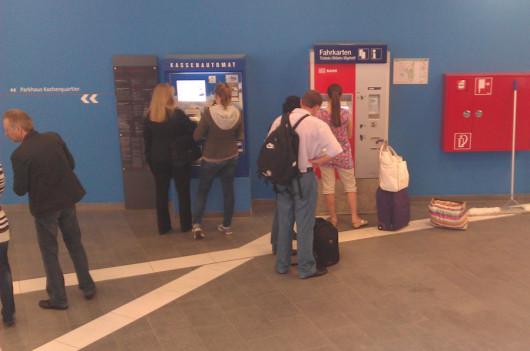 2 am Parkautomat, 3 am DB-Automaten