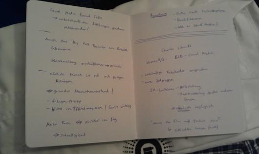 Zwei der 18 Seiten im Notizbuch1.0 ;-)
