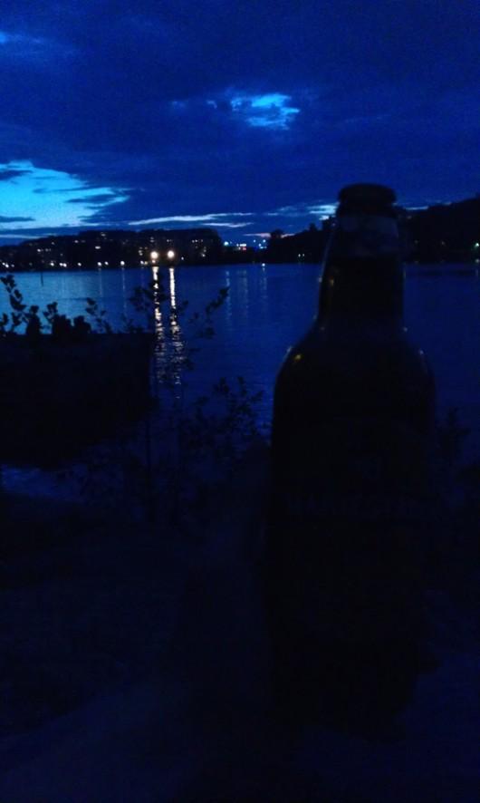Mein Leseplätzchen in Stockholm auf Långholmen.