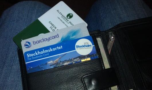 Die drei magischen Karten in Stockholm: Hotelkarte, VISA und StockholmCard!