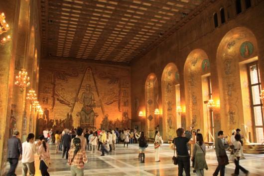 Im Goldenen Saal des Rathauses (stadshus)