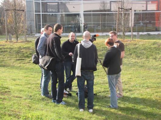 Hier wurde für ZDFkultur gedreht. Mal gucken, wann es ausgestrahlt wird ;-) (Fotocredit: @fwhamm)