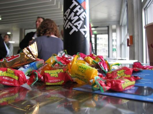 Sponsor Nokia hat für Süßigkeiten gesorgt. (Fotocredit: @fwhamm)
