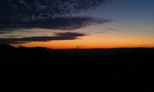 Sonnenuntergang Ende November.