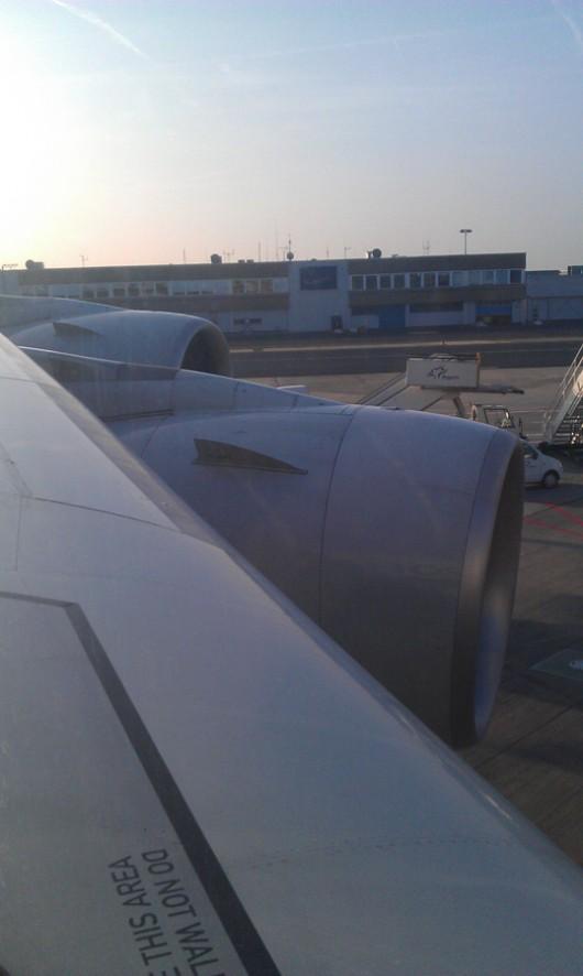 Mein Blick aus dem Fenster von Platz 32A.