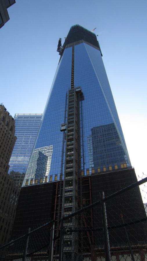 Das sich in Bau befindliche WTC 1 (Freedom Tower).