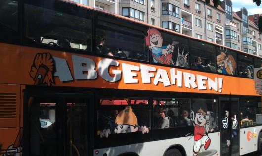 Definitiv das coolste Bus-Werbemotiv in ganz Berlin!