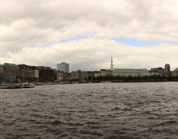 Panorama: Binnenalster in Hamburg