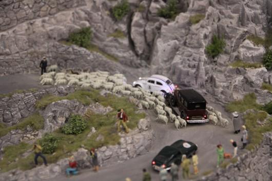 Ein paar Teilnehmer der Mille Miglia haben sich auch in die Schweiz verirrt.