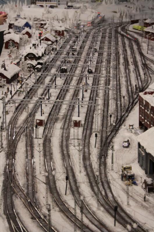 Wunderschöne Winterlandschaft in Skandinavien.