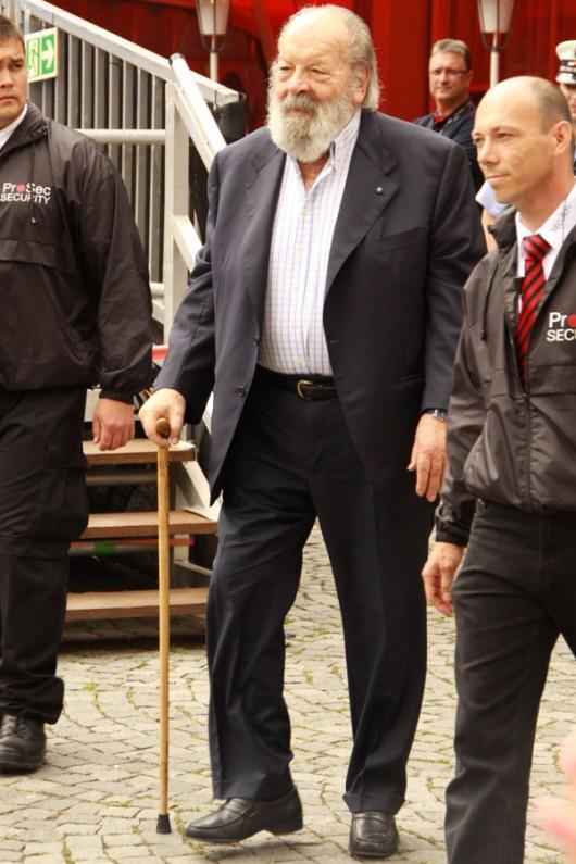 Bud Spencer bei seinem zweiten großen Auftritt in Schwäbisch Gmünd.