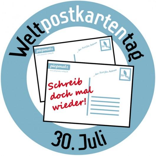 Logo des Weltpostkartentages.