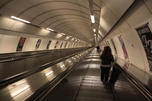 Mit 87m Länge die längste Rolltreppe Europas.