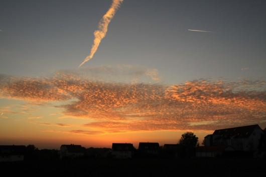 Sonnenuntergang im Herbst.