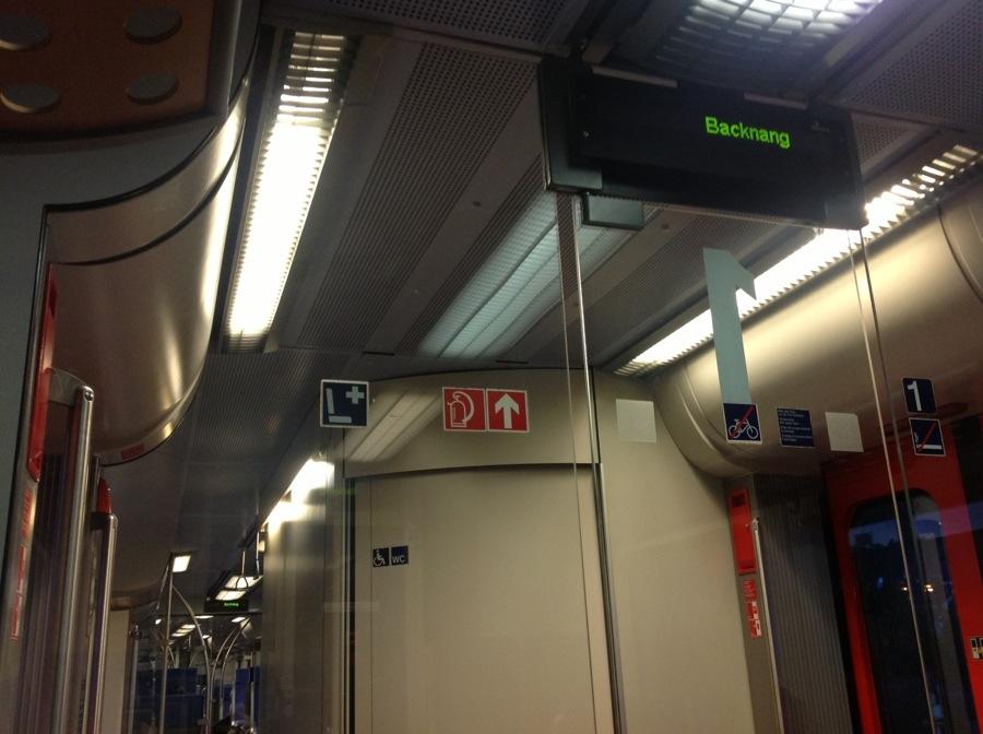 In der Regionalbahn nach Backnang.