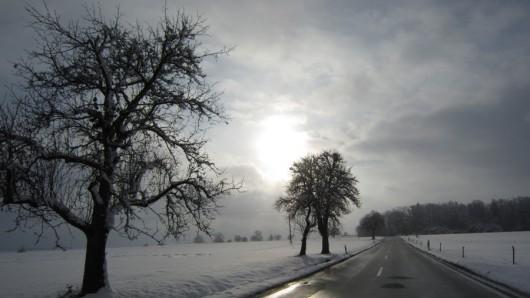 Auf der Landstraße Richtung Essingen.