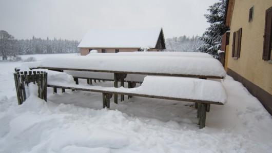 Kleine Beweisfoto, damit ihr mir die 30-40cm Schnee auch glaubt!